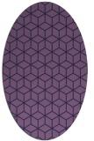 rug #482793   oval purple rug