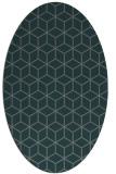 rug #482825 | oval blue-green popular rug