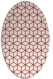 rug #482945 | oval red geometry rug