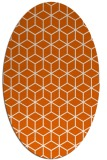 rug #482965 | oval red-orange geometry rug