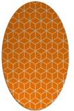 rug #483013   oval orange popular rug