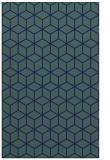 rug #483081    blue geometry rug