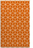 rug #483317 |  red-orange geometry rug