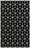 rug #483321 |  black geometry rug