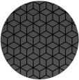 rug #483409 | round black geometry rug
