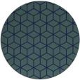 rug #483433 | round blue geometry rug
