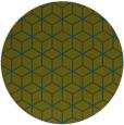 rug #483461 | round blue-green rug