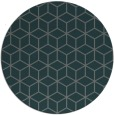 rug #483529 | round blue-green rug