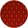 rug #483589 | round orange popular rug