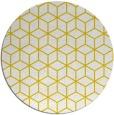 rug #483701 | round yellow geometry rug