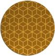 rug #483705 | round yellow geometry rug