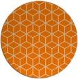 rug #483717 | round orange rug