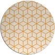 rug #483749   round light-orange rug