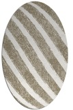 rug #484457   oval white stripes rug