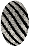 rug #484461 | oval white stripes rug