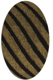 rug #484477 | oval mid-brown stripes rug