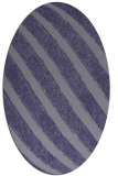 rug #484545 | oval blue-violet stripes rug