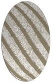rug #484597   oval white stripes rug