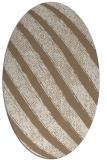 rug #484609 | oval beige stripes rug