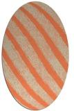 rug #484653 | oval beige stripes rug