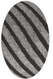 rug #484657 | oval orange stripes rug