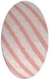 rug #484677   oval white stripes rug