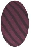 rug #484681 | oval purple stripes rug