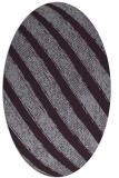 rug #484693 | oval purple stripes rug
