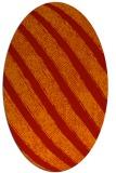 rug #484701 | oval red stripes rug
