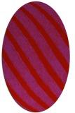rug #484709 | oval red stripes rug