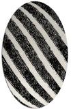 rug #484729 | oval white stripes rug