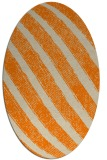 rug #484773 | oval orange stripes rug