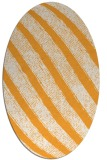 rug #484805 | oval white stripes rug