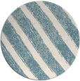 rug #485185 | round white stripes rug