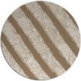 rug #485313 | round mid-brown stripes rug