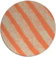 rug #485357 | round orange stripes rug