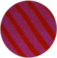 rug #485413 | round red stripes rug