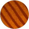 rug #485417 | round red-orange stripes rug