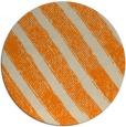 rug #485477   round orange stripes rug