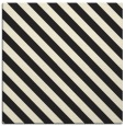 rug #487933 | square black stripes rug