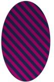 rug #488005   oval blue stripes rug
