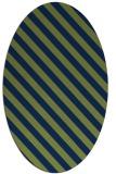 rug #488013   oval blue stripes rug