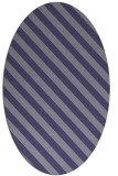 rug #488065 | oval blue-violet stripes rug