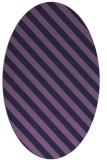 rug #488073 | oval purple stripes rug