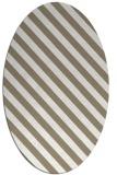 rug #488117 | oval white stripes rug