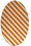 rug #488169 | oval orange stripes rug