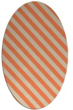 rug #488173 | oval beige stripes rug