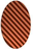 rug #488177 | oval red-orange stripes rug