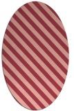 rug #488193 | oval stripes rug