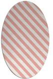 rug #488197 | oval white stripes rug